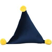 三角靠垫创意腰枕现代简约靠枕沙发可爱北欧家用纯色抱枕小礼物 50X50X50cm(外套+内芯)