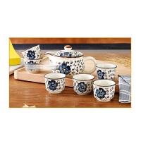 茶具礼品套装 陶瓷 杯茶壶青花茶杯日式