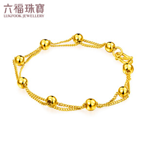 六福珠宝黄金手链圆圆满满经典足金手链女金手饰     B01TBGB0005