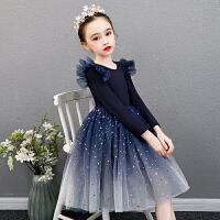 女童冬装洋气连衣裙秋冬冬季加绒公主裙蓬蓬纱儿童冬裙子