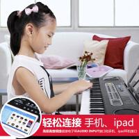 61键金色年代初学电子琴儿童多功能小钢琴宝宝益智乐器