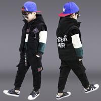 儿童装男童冬装套装秋冬季加绒三件套潮