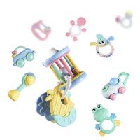 手摇铃牙胶套装婴儿玩具0-1岁宝宝儿