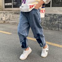男童牛仔裤春季中大童春装儿童裤子春秋款洋气韩版潮童装