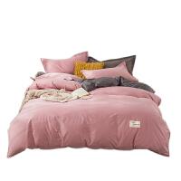 南极人水洗棉四件套床上用品床单被套单人学生宿舍ins风三件套
