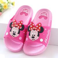 迪士尼儿童夏季居家浴室拖鞋卡通凉拖鞋女童男童洗澡拖鞋米奇防滑