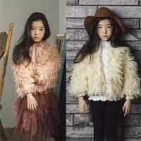 亲子装母女冬装女童毛毛大衣中大童韩版仿皮草儿童毛绒外套潮