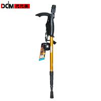 DDM代代美登山杖橡胶T型柄徒步4节易于收缩携带碳钨钢登山杖 单根