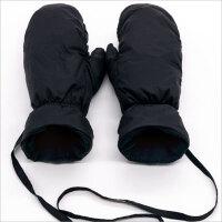 男士羽绒手套女冬季保暖加厚加绒滑雪手套防风防寒挂脖连指手套潮 X