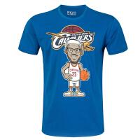男士短袖t恤圆领印花纯棉体恤卡通 詹姆斯篮球球衣半袖运动服