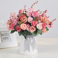 仿真花康乃馨小清新套装客厅家居摆设向日葵绢花餐桌装饰花束假花