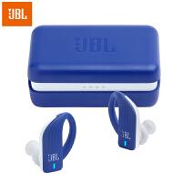 【当当自营】JBL Endurance Peak 蓝色 真无线蓝牙耳机 防水防掉落专业运动耳机