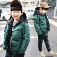 儿童装羽绒服短款外套冬季中大童