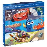 迪士尼皮克斯经典故事(4册盒装) 英文原版 附CD 寻找多莉+玩具总动员+头脑特工队+汽车总动员 Disney-Pix