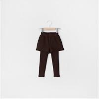 秋冬纯棉打底裤女童加绒加厚外穿假两件裙修身儿童高腰包臀裙短裤