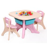 儿童桌椅组合套装幼儿园学习玩具塑料桌宝宝多功能写字画画游戏桌