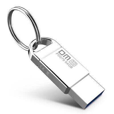 DM 小钢炮(PD079) U盘64G USB3.0优盘 迷你金属高速车载u盘 64GB 支持个性私人企业LOGO刻字刻图定制