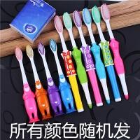 情侣牙刷软毛家庭装儿童牙刷家用组合共10支批发 熊大4支 古装6支【杯子2个】