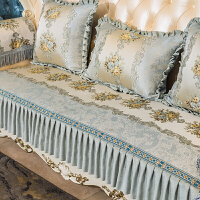 新品欧式沙发垫四季通用防滑布艺客厅123组合真皮坐垫套 维亚王妃