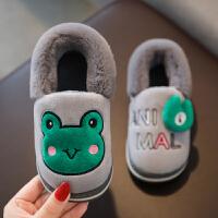 冬季儿童棉拖鞋男女童可爱卡通保暖包跟1-8岁宝宝棉鞋室内家居鞋