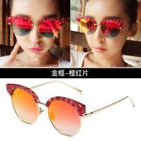 墨镜女士潮流时尚太阳镜新款 圆脸司机驾驶眼镜个性大框