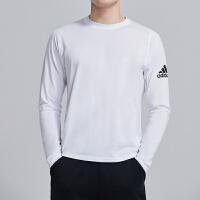 adidas阿迪达斯男服长袖T恤2019新款圆领套头衫针织综合训练运动服DQ2847