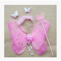 六一儿童节礼物双层天使翅膀 儿童玩具/蝴蝶翅膀套装- 花童演出拍照派对