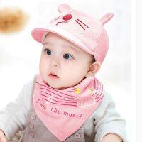 婴儿帽子春秋天3-6-9个月鸭舌帽韩版幼儿秋冬季男女宝宝帽子纯棉