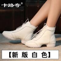 舞蹈鞋春夏新款真皮爵士现代跳舞鞋女鞋软底牛皮广场舞靴子