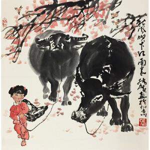 张广《秋风吹下弘雨来》国家一级美术师