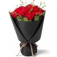 9朵红色玫瑰花束(爱你就是这么简单)
