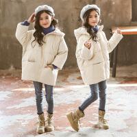 女童冬装棉衣女孩韩版中长款棉袄中大童外套