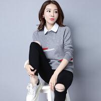 新款韩版秋冬装少女士毛衣套头修身打底衫学生短款针织羊绒衫