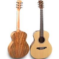面单板民谣木吉他旅行36寸38寸指弹唱圆角男女学生初学者儿童吉它 36寸 云杉胡桃木 单板圆角亮光