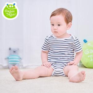 【每满100减50】婴儿连体衣夏季女宝宝三角哈衣短袖包屁衣新生儿夏装0纯棉3个月
