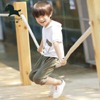 男童夏装新款套装连帽休闲装夏季童装儿童短袖套装两件套韩版