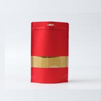 新品彩色牛皮纸自封袋高清开窗自立袋食品袋定制茶叶包装袋密封袋加厚