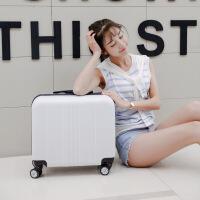 登机箱18寸小型行李箱迷你拉杆箱女士16寸方形旅行箱小清新万向轮 18寸(身保修+买一送十)