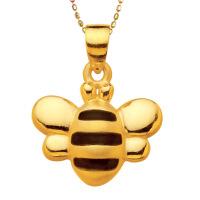 先恩尼黄金 足金吊坠 小蜜蜂吊坠 足金足坠 送女朋友礼物XZJA110521