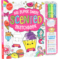 [现货]趣味涂色书 英文原版 Klutz My Super Sweet Scented Sketchbook Toy