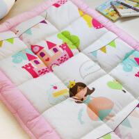 儿童游戏毯垫子儿童地垫宝宝爬行垫卡通加厚可爱纯棉卧室床边毯 公主城堡 加厚款 1500MM×900MM