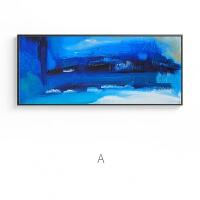 抽象蓝ins风宝丽来工作室油画壁画挂画现代客厅过道装饰画