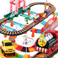 拖马斯火车轨道玩具套装电动赛车男孩小汽车益智儿童3-6周岁4礼物e7o