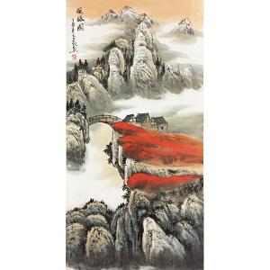杨百敬《揽胜图》著名画家