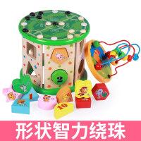 男孩宝宝积木玩具0-1-2-3周岁木制早教力男孩女小孩婴幼儿童启蒙 益智启蒙早教兼容乐高