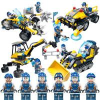 积木晶石小队城市工程系列儿童男孩子启蒙拼装玩具
