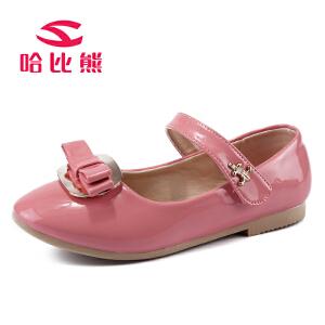 【每满200减100】哈比熊童鞋儿童皮鞋女童单鞋韩版潮宝宝皮鞋单鞋