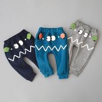 童装男宝宝裤子0-1-2-3-4岁男童哈伦裤婴儿冬装长裤