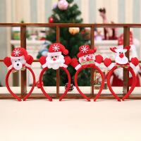 圣诞节装饰品儿童礼物小礼品装扮雪人鹿角头箍发箍头饰帽子饰品
