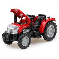 1:32合金拖拉机汽车模型声音灯光回力仿真农场运输车儿童玩具小车